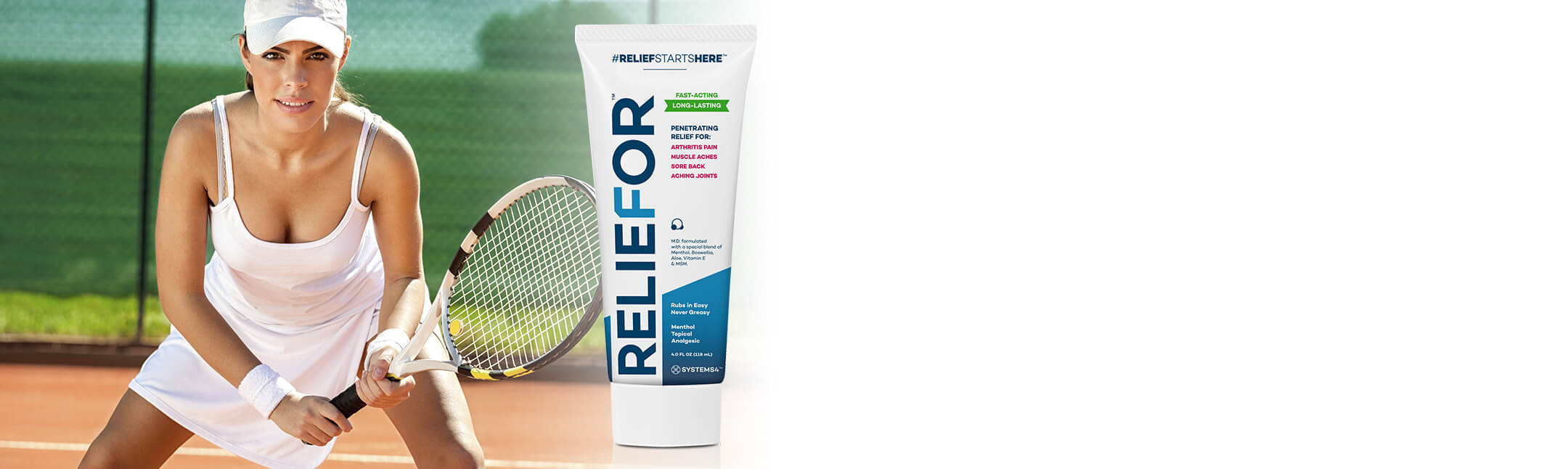 Pain Relief for tennis pain